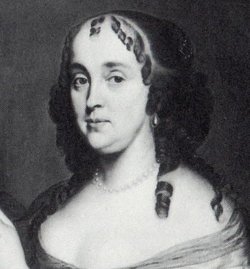Lady Jane Fisher with long ringlets and the wispy curls at the forehead. - 1660_lady-jane-fisher